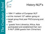 history nlp s