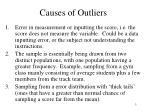 causes of outliers