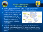impaired waters project fws epa usgs