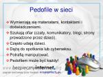 pedofile w sieci