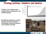 farming systems numbers and density