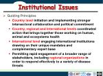 institutional issues