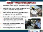 major thrusts objectives