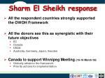 sharm el sheikh response