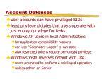 account defenses