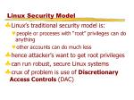 linux security model