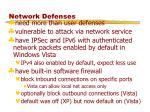 network defenses