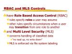 rbac and mls controls