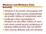 windows and windows vista security