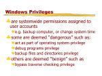 windows privileges