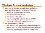 windows system hardening