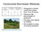 constructed stormwater wetlands