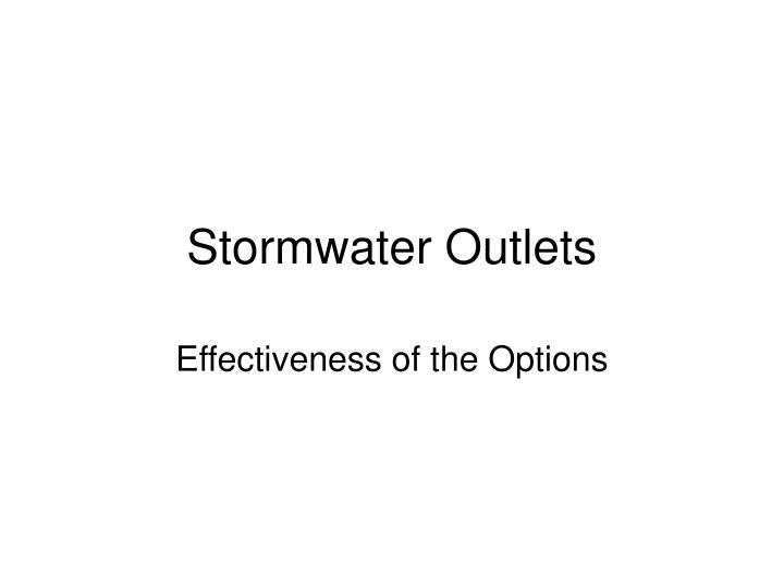stormwater outlets n.