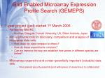 grid enabled microarray expression profile search gemeps
