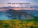 epa and its organization