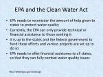 epa and the clean water act