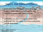 step 2 stop sediment pollution