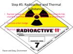 step 5 radioactive and thermal substances