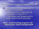 hazardous waste training violations continued