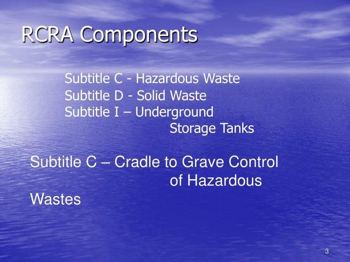 Rcra components