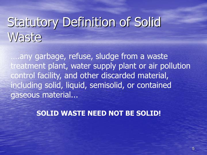 Statutory Definition of Solid