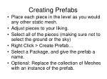 creating prefabs