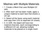 meshes with multiple materials
