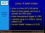 linux a brief review
