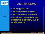 linux limitations