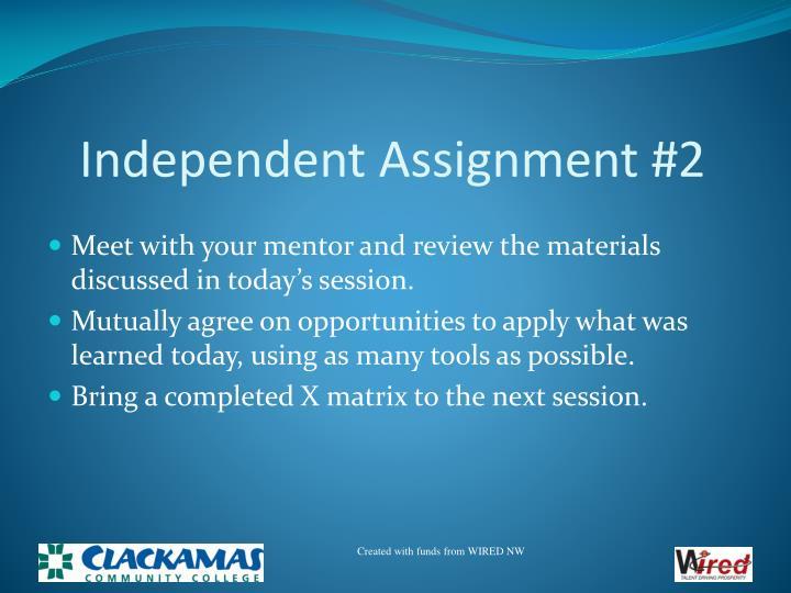 Independent Assignment #2