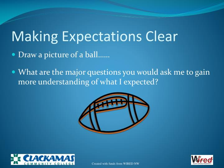 Making Expectations Clear