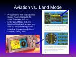 aviation vs land mode
