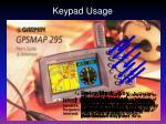 keypad usage