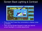 screen back lighting contrast