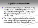 aquifers unconfined