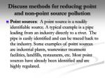 discuss methods for reducing point and non point source pollution1