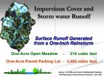 impervious cover and storm water runoff1