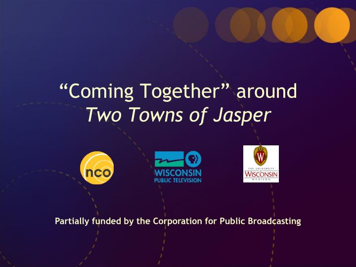 coming together around two towns of jasper n.