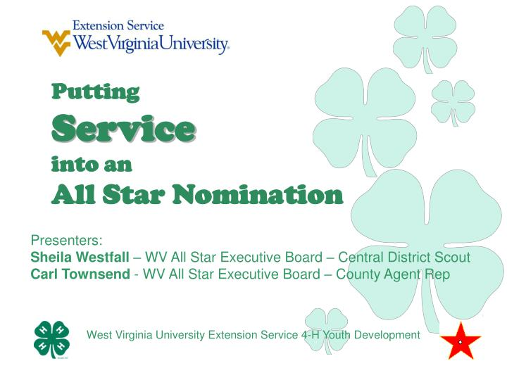 putting service into an all star nomination n.