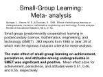 small group learning meta analysis