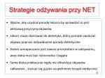 strategie od ywania przy net1