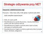 strategie od ywania przy net2