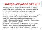 strategie od ywania przy net5