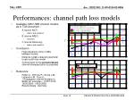 performances channel path loss models