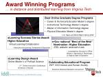 award winning programs in distance and distributed learning from virginia tech