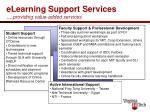 elearning support services providing value added services