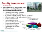 faculty involvement in elearning