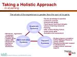 taking a holistic approach to elearning