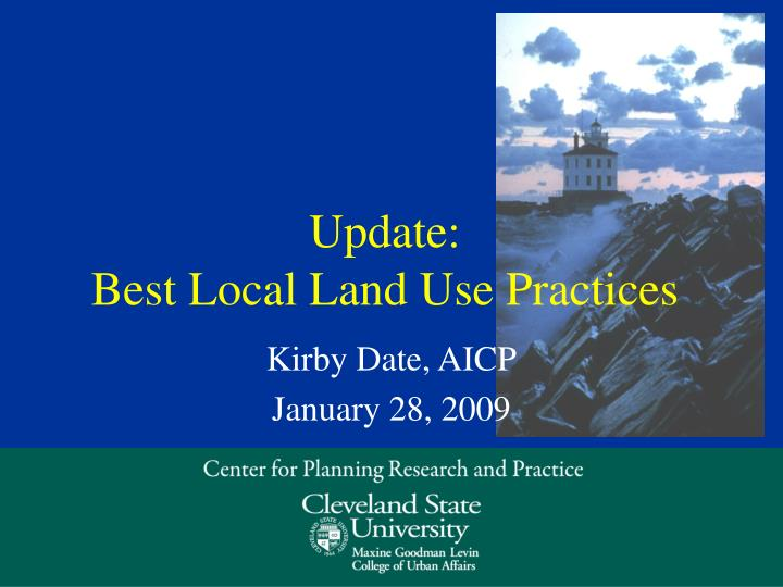 update best local land use practices n.