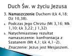 duch w w yciu jezusa